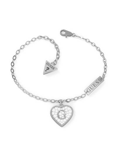 Pave G Heart Crystals Br (rh)