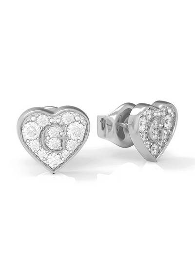 Pave G Heart Crystals Stud(rh)
