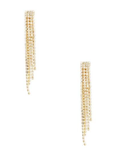 Marciano Pearl And Crystal Fringe Earring